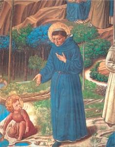 Hl. Augustinus | Detail aus den Fresken von Benozzo Gozzoli in San Gimignano | © Augustiner Wien